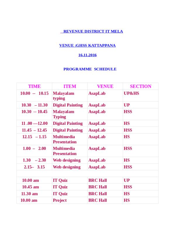 mela-schedule