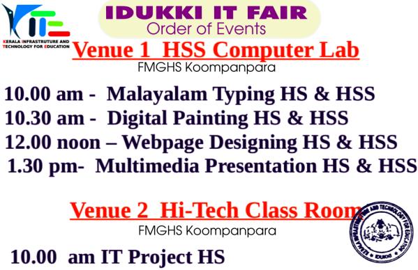 Idukki_IT_Order of Events